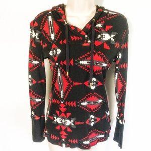 Ralph Lauren Aztec Hooded Sweatshirt Sz S